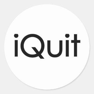 iQuit (Jobs) Round Sticker