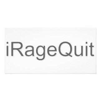 iRageQuit Rage Quitting Gamer Photo Greeting Card
