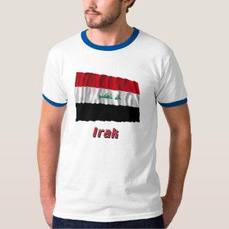 Irak Fliegende Flagge mit Namen T-shirts