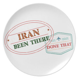 Iran Been There Done That Plate