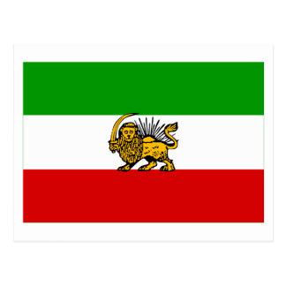 Iran Flag (1925-1979) Postcard