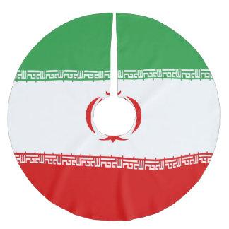 Iran Flag Brushed Polyester Tree Skirt