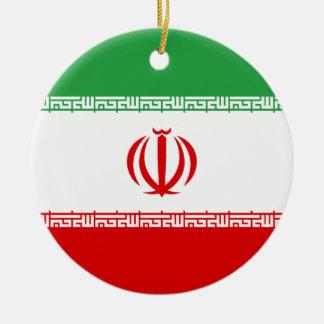 Iran Flag Ceramic Ornament