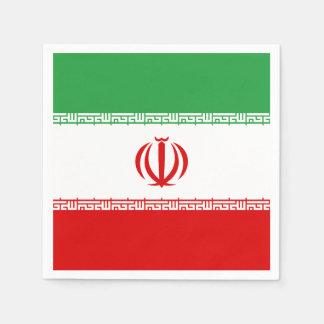 Iran Flag Disposable Serviette