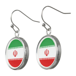 Iran Flag Earrings