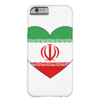 Iran Flag Heart Barely There iPhone 6 Case