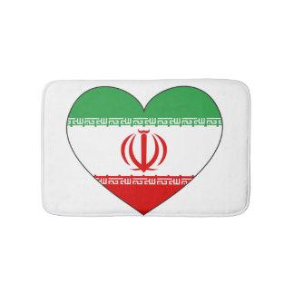 Iran Flag Heart Bath Mat