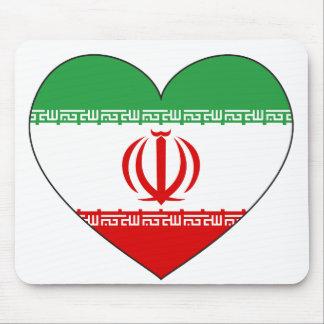 Iran Flag Heart Mouse Pad