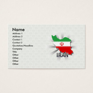 Iran Flag Map 2.0 Business Card