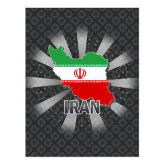 Iran Flag Map 2.0 Postcard