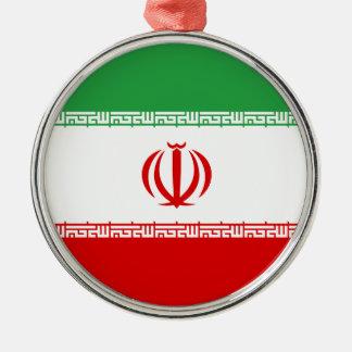 Iran Flag Metal Ornament
