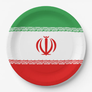 Iran Flag Paper Plate