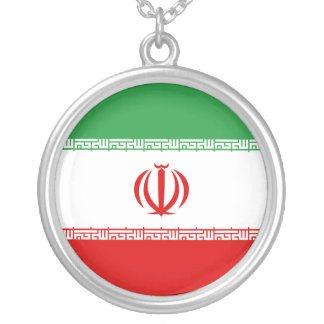 Iran Flag Silver Plated Necklace