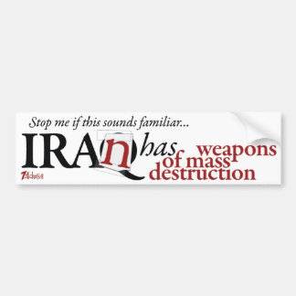 Iran Has WMD Bumper Sticker