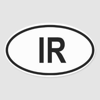 "Iran ""IR"" Oval Sticker"