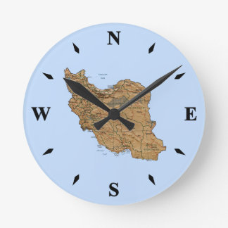 Iran Map Clock