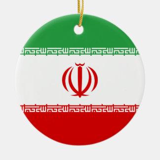 Iran National World Flag Ceramic Ornament
