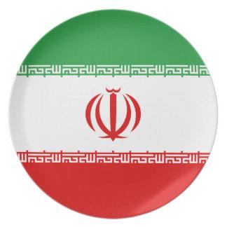 Iran National World Flag Plate