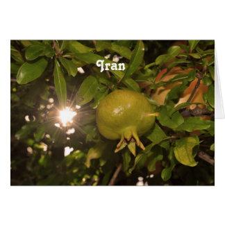 Iran Pomegranate Card