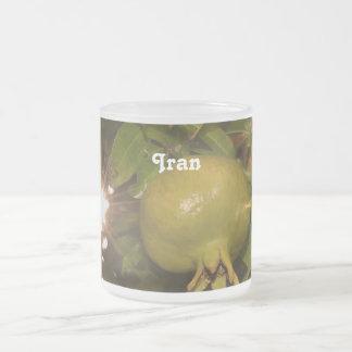 Iran Pomegranate Frosted Glass Mug