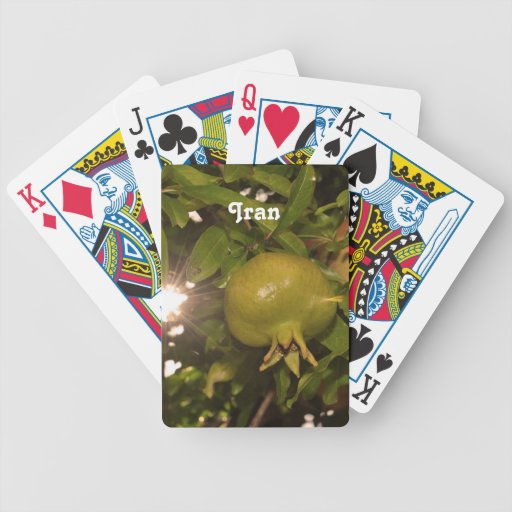 Iran Pomegranate Bicycle Card Deck