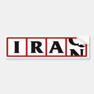 Iran to Iraq Bumper Sticker