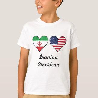 Iranian American Flag Hearts T-Shirt