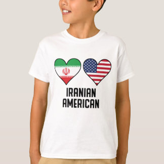 Iranian American Heart Flags T-Shirt