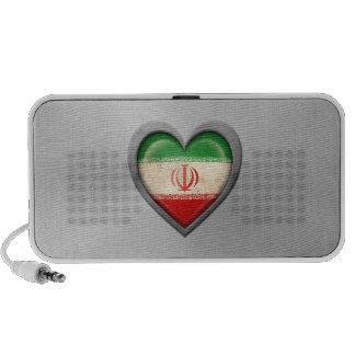 Iranian Heart Flag Stainless Steel Effect Mp3 Speaker