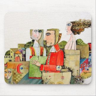 Iranian modern art mouse pad