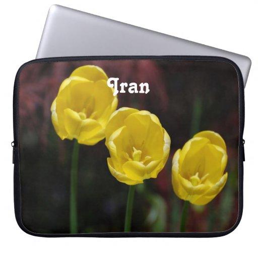 Iranian Tulip Laptop Computer Sleeves