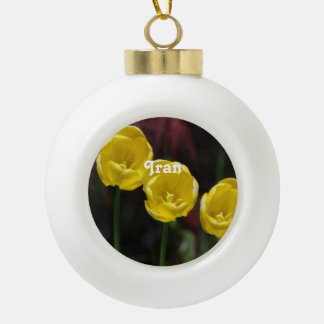 Iranian Tulip Ceramic Ball Decoration