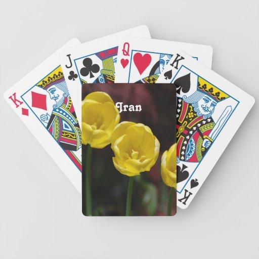 Iranian Tulip Bicycle Poker Cards