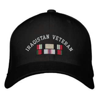 Iraq Afghanistan Veteran Embroidered Baseball Caps