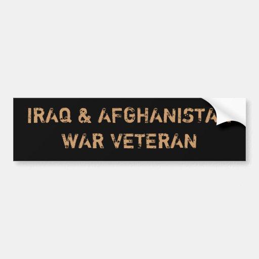 IRAQ & AFGHANISTAN WAR VETERANS BUMPER STICKERS