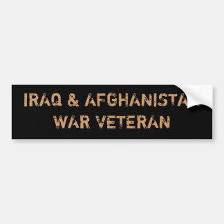 IRAQ AFGHANISTAN WAR VETERANS BUMPER STICKERS