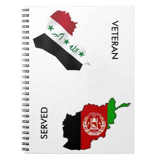 Iraq Afghanistsan Veteran Spiral Notebook