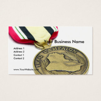 Iraq Campaign Medal Business Card