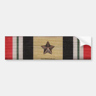 Iraq Campaign Medal Ribbon 1 Battle Star Sticker Bumper Stickers