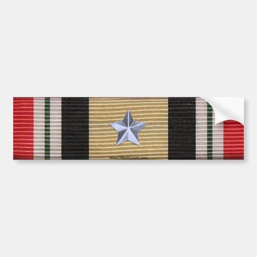 Iraq Campaign Medal Ribbon 5 Battle Stars Sticker Bumper Sticker