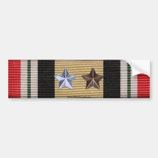 Iraq Campaign Medal Ribbon 6 Battle Stars Sticker Bumper Stickers
