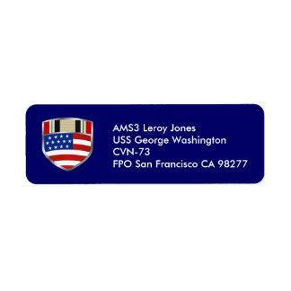 Iraq Campaign Ribbon Return Address Label