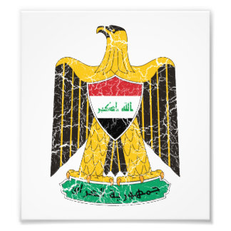 Iraq Coat Of Arms Photograph