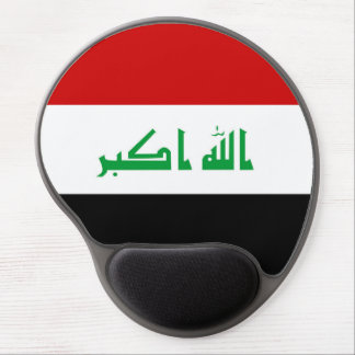 Iraq country long flag nation symbol republic gel mouse pad
