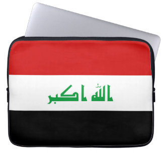 Iraq country long flag nation symbol republic laptop computer sleeve