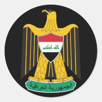 iraq emblem round sticker