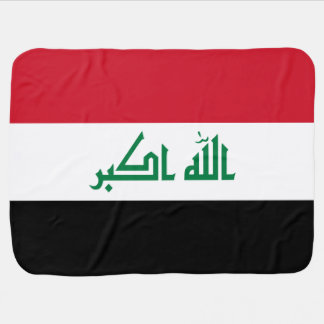 Iraq Flag Baby Blanket