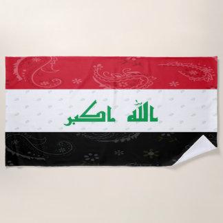 Iraq Flag Beach Towel