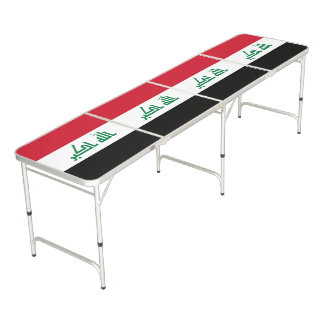 Iraq Flag Beer Pong Table