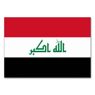 Iraq Flag Card